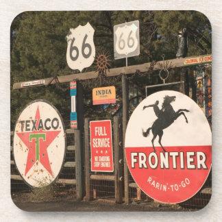 USA, Arizona, Sedona: Antique Advertising Signs Coasters
