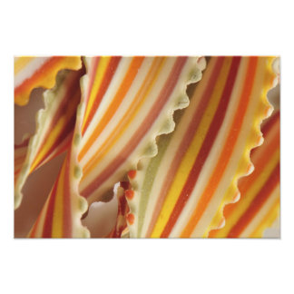 USA. Close-up of dried rainbow pasta noodles. Photo