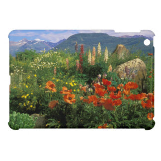USA, Colorado, Crested Butte. Poppies and lupine Cover For The iPad Mini