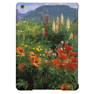 USA, Colorado, Crested Butte. Poppies and lupine iPad Air Covers