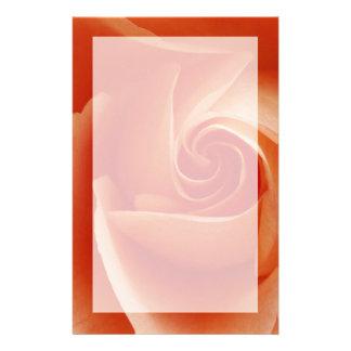 USA, Colorado, Lafayette. Peach rose close-up Customised Stationery