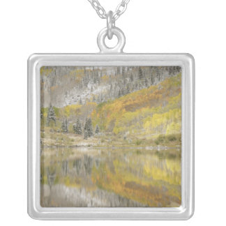 USA, Colorado, White River National Forest, 2 Square Pendant Necklace
