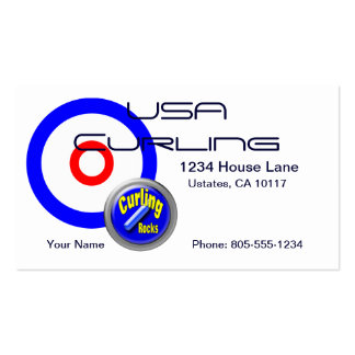 USA Curling Pack Of Standard Business Cards