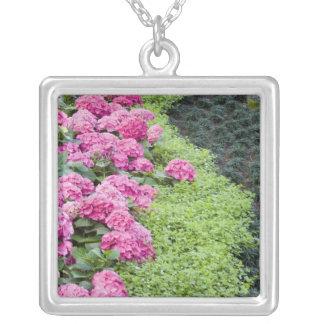 USA, Georgia, Pine Mountain. A boder of spring Square Pendant Necklace