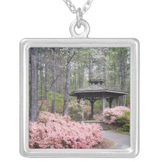 USA, Georgia, Pine Mountain. A gazebo amongst Square Pendant Necklace
