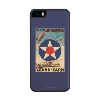 USA - Join the Air Service Learn-Earn Wood iPhone SE/5/5s Case