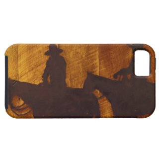 USA, Montana, Boulder River Cowboys on horses iPhone 5 Cover