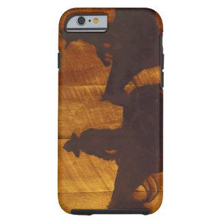USA, Montana, Boulder River Cowboys on horses Tough iPhone 6 Case