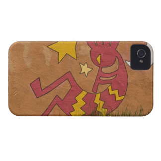 USA, New Mexico, Santa Fe. Wall mural of a iPhone 4 Case