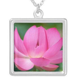 USA; North Carolina; Lotus blossom Square Pendant Necklace