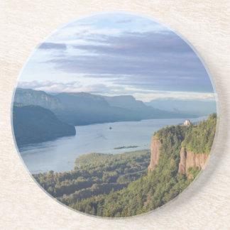 USA, Oregon, Columbia River Gorge, Vista House Sandstone Coaster