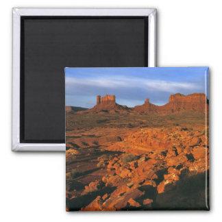 USA, Utah, Monument Valley. Sunset light Square Magnet