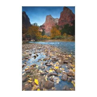 USA, Utah, Zion National Park. The Sentinel 2 Canvas Prints