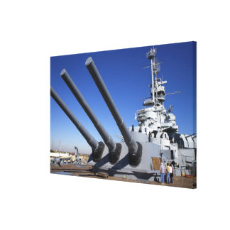 USS Alabama Battleship at Battleship Memorial Canvas Print