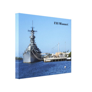 USS Missouri Wrapped  Canvas Gallery Wrapped Canvas