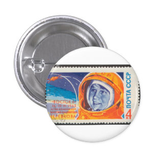 Valentina Vladimirovna 1st Woman in Space 3 Cm Round Badge