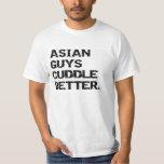 valentine: asian guys cuddle better t-shirt