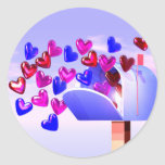 Valentine Heart Mail2 Round Sticker
