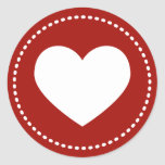 Valentine's Day Heart Round Sticker