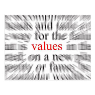 Values (Inspiration) Postcard