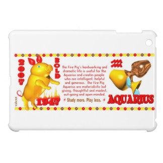 Valxart 2007 1947 2067 zodiac Fire Pig Aquarius iPad Mini Cover