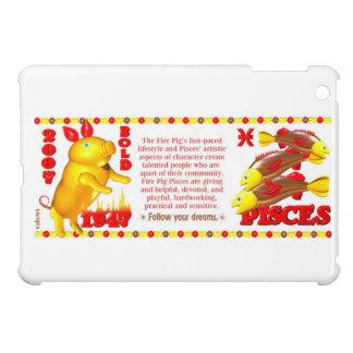 Valxart 2007 1947 2067 zodiac FirePig Pisces Cover For The iPad Mini