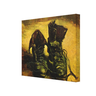 Van Gogh A Pair of Shoes, Vintage Still Life Art Stretched Canvas Prints