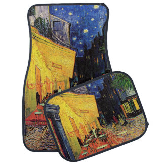 Van Gogh Cafe Terrace on Place du Forum, Fine Art Car Mat