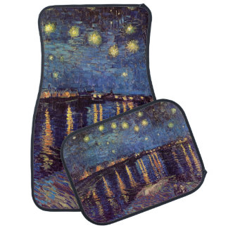 Van Gogh Starry Night Over the Rhone, Fine Art Floor Mat