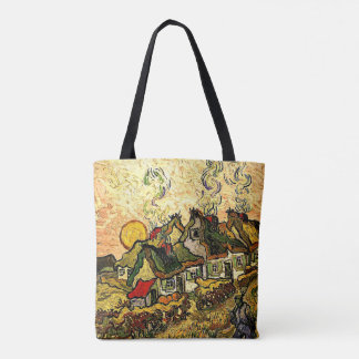 Van Gogh - Thatched Cottages in the Sunshine Tote Bag