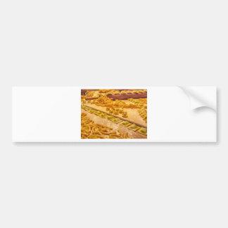 Various mix of fresh italian homemade pasta bumper sticker