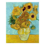 Vase With Twelve Sunflowers By Vincent Van Gogh Poster