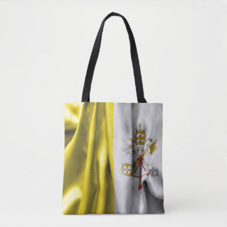 Vatican City Flag All-Over-Print Tote Bag