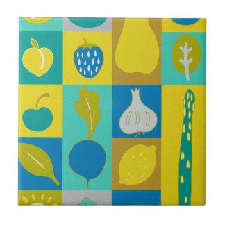Veggie Blocks I Small Square Tile
