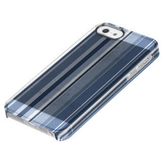Vertical Blue Stripes Clear iPhone SE/5/5s Case