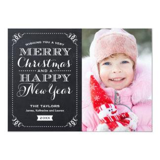 Very Merry Christmas Chalkboard Holiday Photo Card 13 Cm X 18 Cm Invitation Card