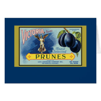 Victoria San Francisco Prunes Greeting Card
