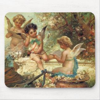 Victorian Art, Musician Angels by Hans Zatzka Mouse Pad