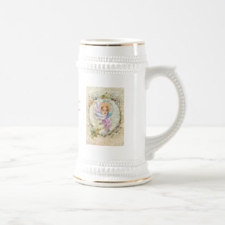 VICTORIAN GIRL HARRISON FISHER STYLE PRINT cropped Beer Steins