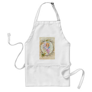 VICTORIAN GIRL HARRISON FISHER STYLE PRINT cropped Standard Apron