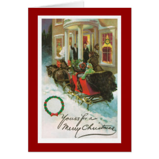Victorian Merry Christmas Greeting Card