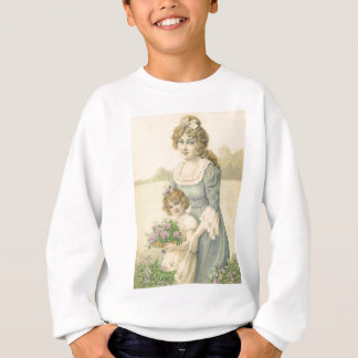 Victorian Mom Daughter Picking Flowers Mother'sDay Tee Shirts