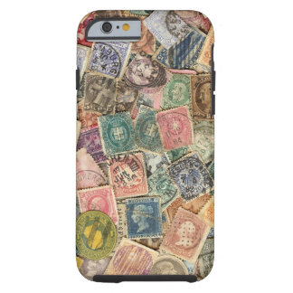 Victorian Stamp Collage Tough iPhone 6 Case