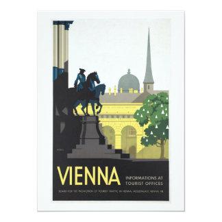Vienna Austria - Vintage Travel 14 Cm X 19 Cm Invitation Card
