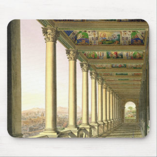 View of the third floor Loggia at the Vatican, wit Mouse Pad