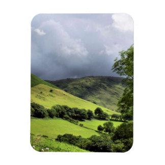 VIEWS OF WALES UK RECTANGULAR PHOTO MAGNET