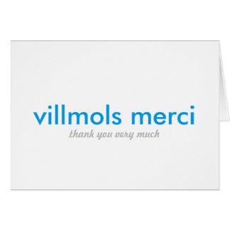Villmols Merci | Thank You Very Much Greeting Card