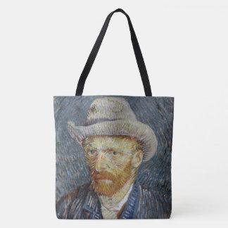 Vincent Van Gogh Self Portrait Grey Felt Hat Art Tote Bag
