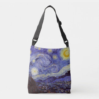 Vincent Van Gogh Starry Night Vintage Fine Art Tote Bag