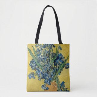 Vincent van Gogh Vase with Irises GalleryHD Tote Bag